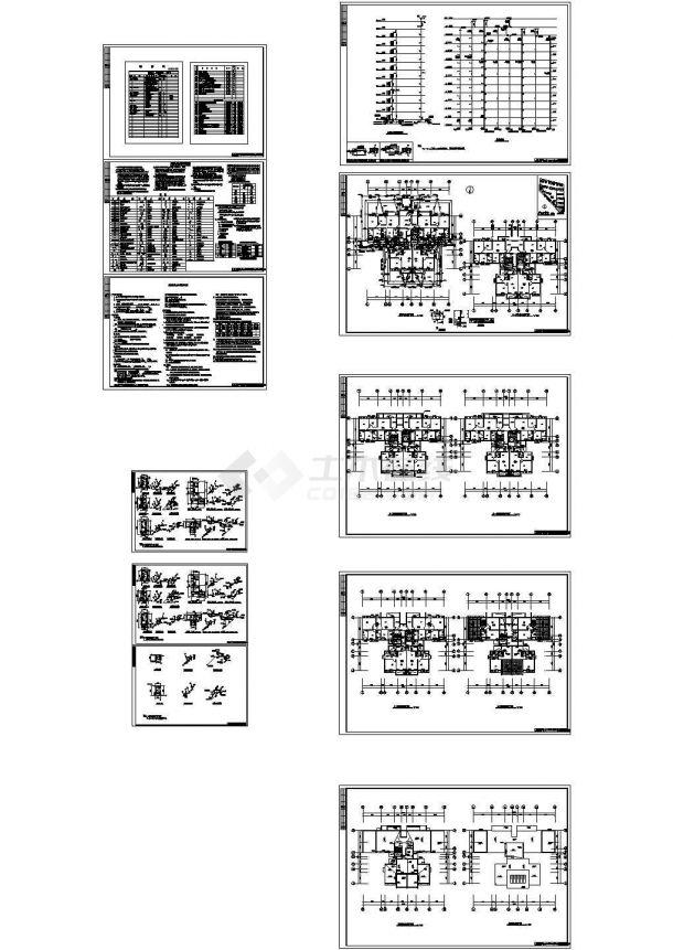 【广西】某高层住宅小区给排水施工全套CAD详图-图一