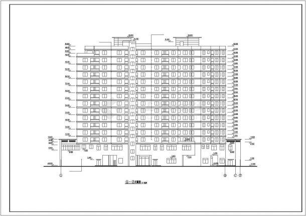 某度假高级宾馆建筑设计方案施工CAD图纸-图一
