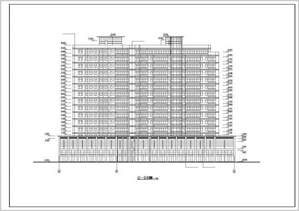 某度假高级宾馆建筑设计方案施工CAD图纸-图二