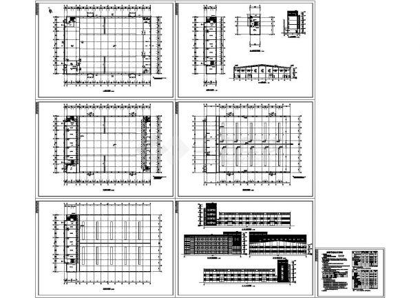 某厂区办公楼加厂房建筑方案设计图-图一