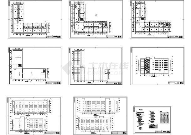 杭州六层小型办公楼建筑方案设计图纸-图一