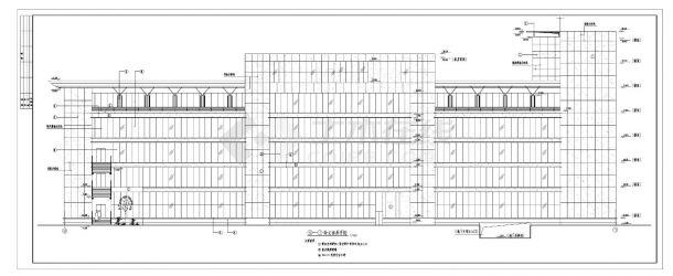 某五层现代办公楼设计图及外墙装饰施工cad图纸-图二