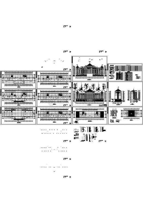 办公楼设计_某检察院多层砖混结构办公楼建筑设计cad全套施工图(含设计说明)-图一