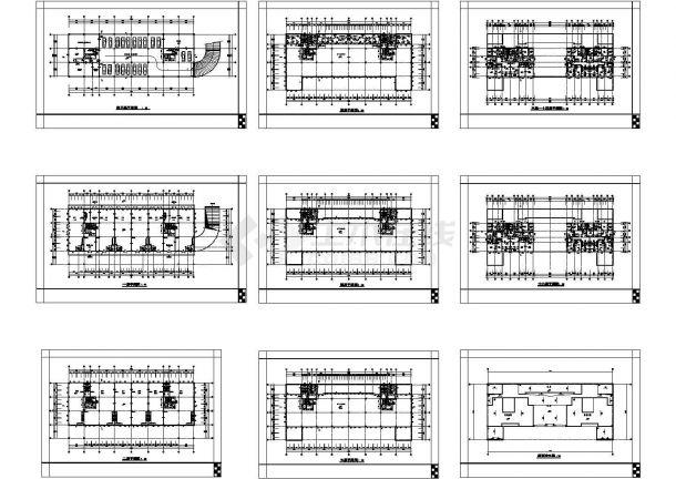南昌市某16层大型商住一体楼建筑设计CAD施工图-图二