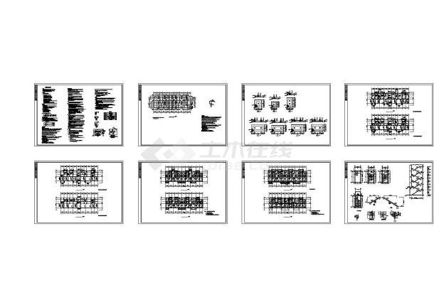 【5层】2700平米左右某五层框架结构住宅楼设计CAD图(全套图纸及计算书)-图二