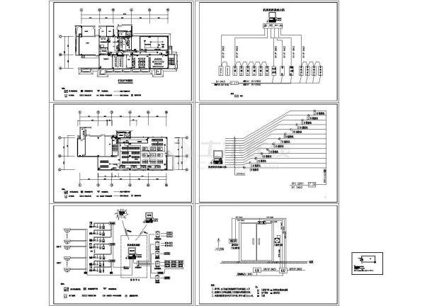 某科技中心机房的电气图cad施工图设计-图一