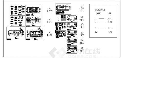 某地高层办公楼电气设计图cad施工图设计-图二