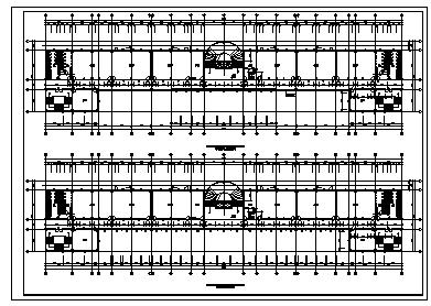 七层钢筋混凝土框架结构大学科技楼建筑施工cad图,共十二张-图二