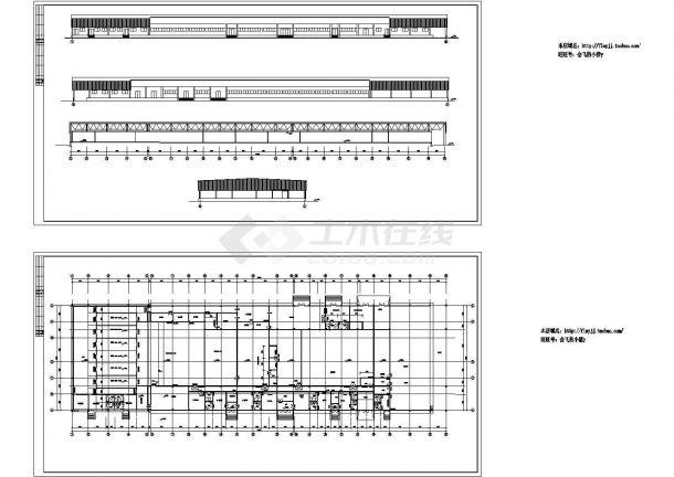 食品厂房建筑方案设计图【1层平面 立面图(无剖面及屋顶平面)】-图一