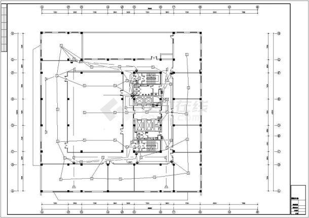 长春市某市立医院12层门诊综合楼消防平面CAD设计图纸-图一