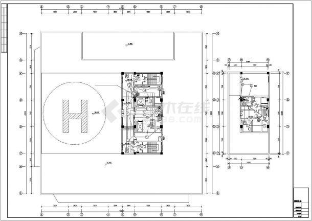 长春市某市立医院12层门诊综合楼消防平面CAD设计图纸-图二