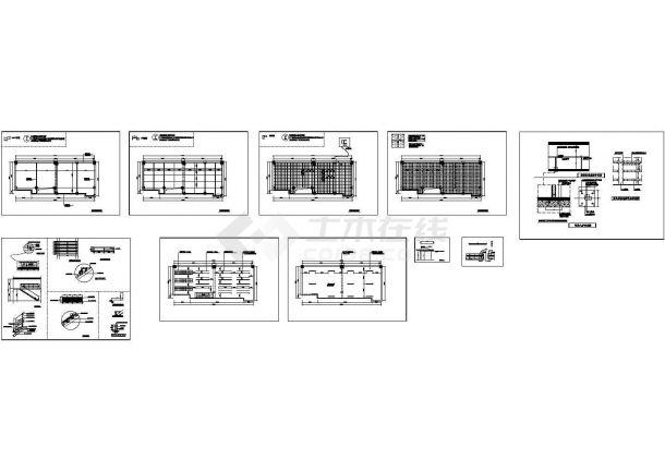 钢结构阁楼及钢结构楼梯cad施工图-图一