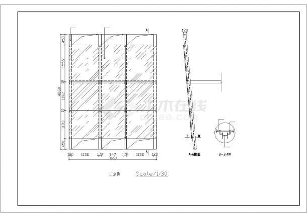 某广告公司装修设计施工CAD图纸-图一
