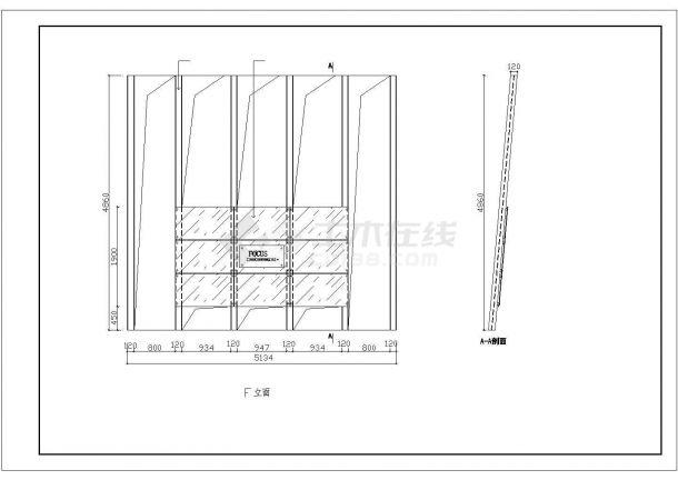某广告公司装修设计施工CAD图纸-图二