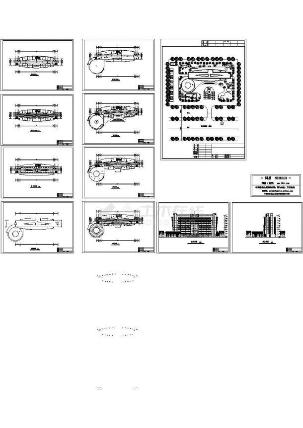 娱乐阳光厅综合楼cad施工图设计-图一