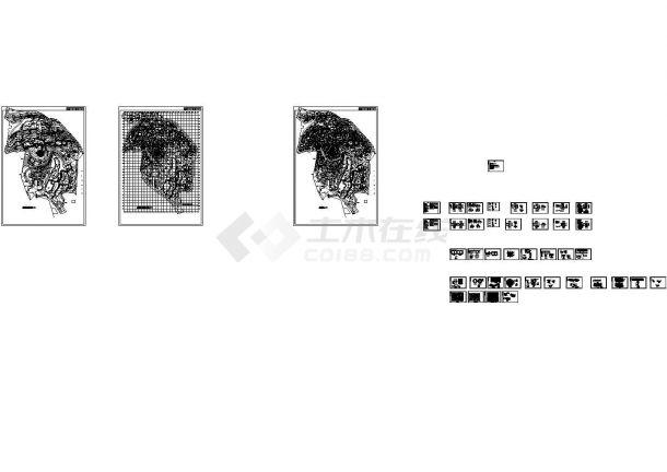 某旅游度假生态园区单层木屋建筑标准设计cad图纸-图二