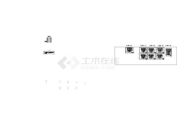 某多层框架结构办公楼卫生间改造安装工程设计cad全套施工图(含设计说明,含建筑、给排水及电气设计,含预算书)-图一