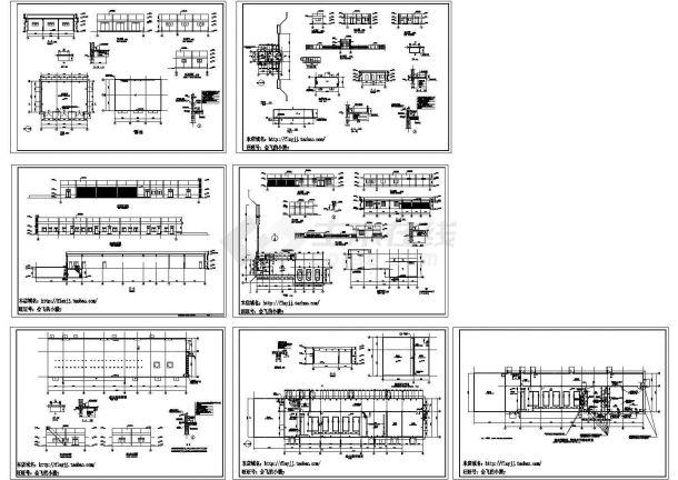 单层机器厂动力房建施设计图【平立剖 节点大样 墙体预留孔.预埋件平面布置图】-图一