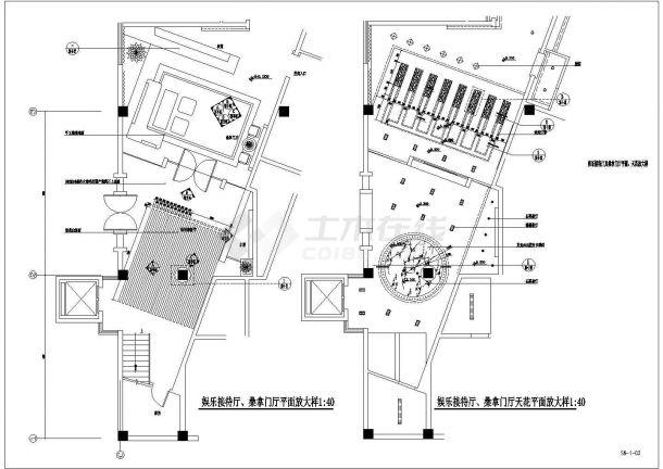【苏州】某豪华酒店多层桑拿游泳馆全套建筑施工cad图(含效果)-图二