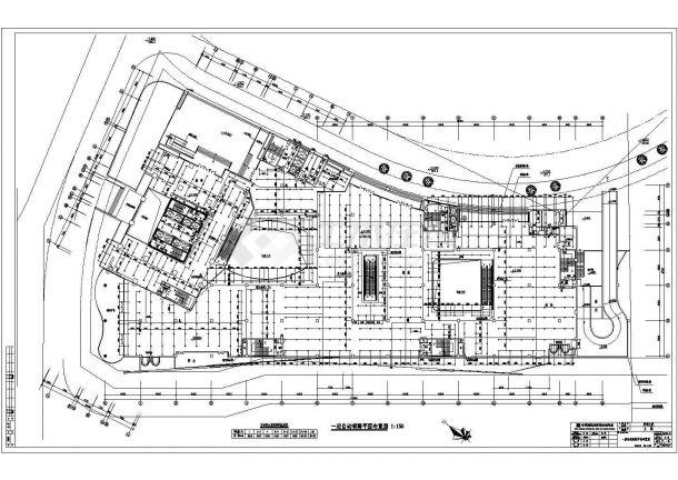抚顺是某超高层写字楼给排水工程设计CAD施工图-图一