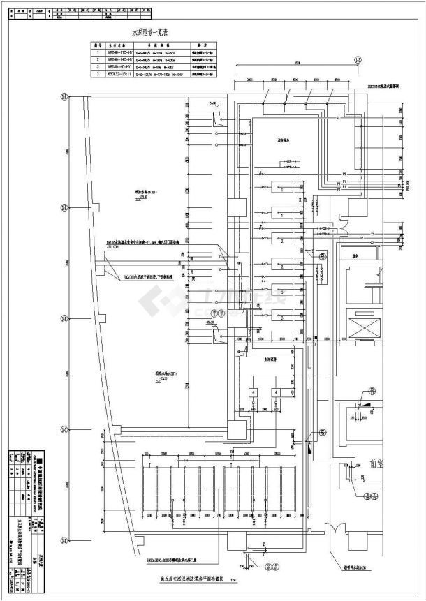 抚顺是某超高层写字楼给排水工程设计CAD施工图-图二