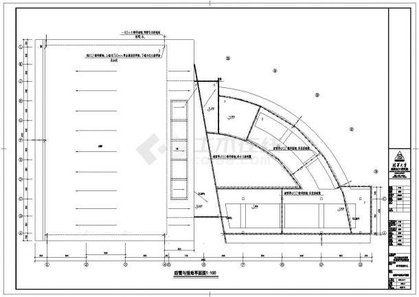 【常州】某大型体育馆全套电气cad施工设计图(含一层弱电平面图)-图一