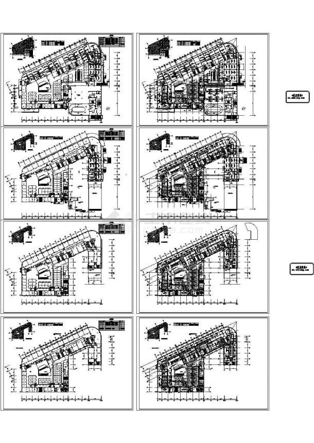 大型商业综合楼暖通空调设计施工图纸(10万平米),9张图纸-图二