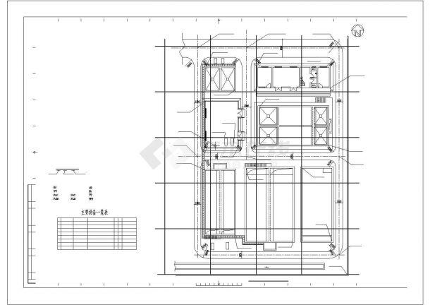 [山東]礦井水回用及污水處理CAD工藝圖-圖一