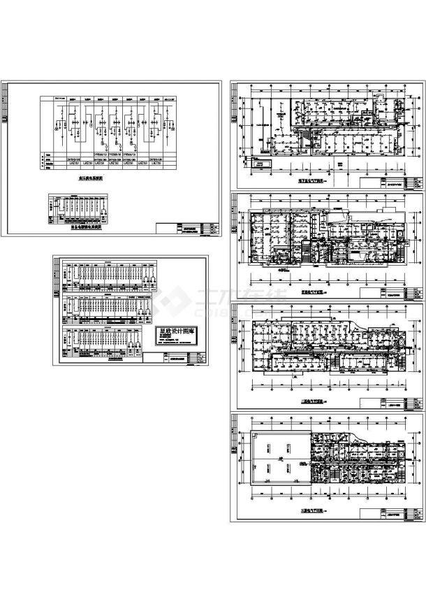 美式酒店电气设计规划方案cad图纸,共一份资料-图一