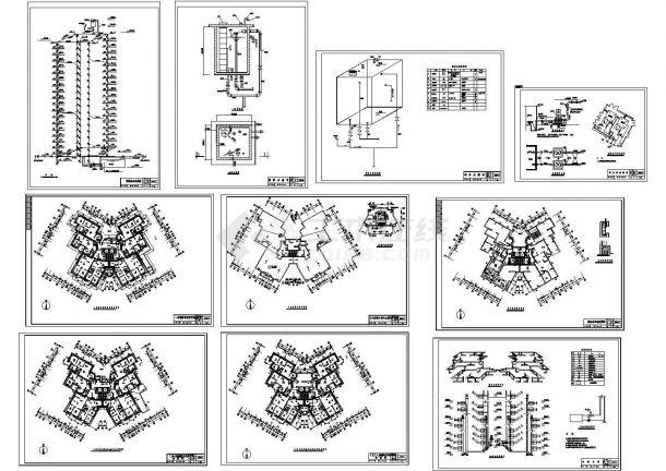 十八层住宅楼消整套防采暖设计图纸-图一