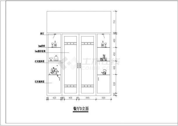 【南京】某花园住宅全套室内家居装修设计cad图(含平面布置图)-图一
