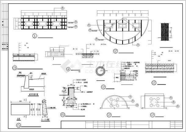 某翠湖新城二期园林景观绿化规划方案设计施工CAD图纸-图二