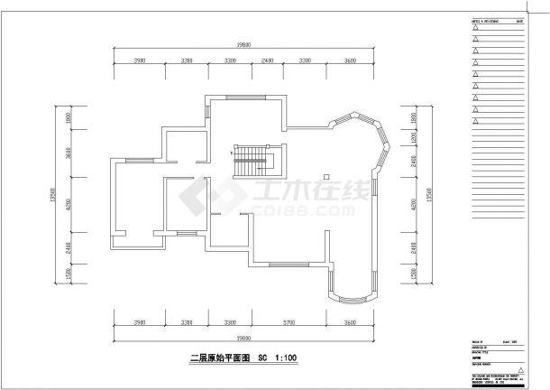 沈阳某二层砖混结构别墅室内精装修设计cad全套施工图(甲级院设计)-图一