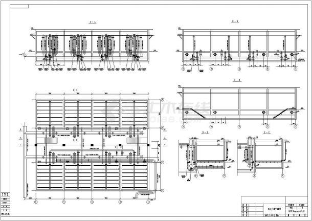 某化企业中水回用工艺流程设计施工图纸-图一