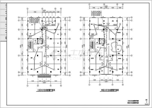 某地住房火灾自动报警及消防广播系统设计规划方案cad图纸-图一