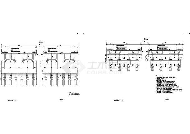 [河南]60米宽60+96+60m三跨双向预应力双箱双室变截面连续梁桥设计图193张-图二