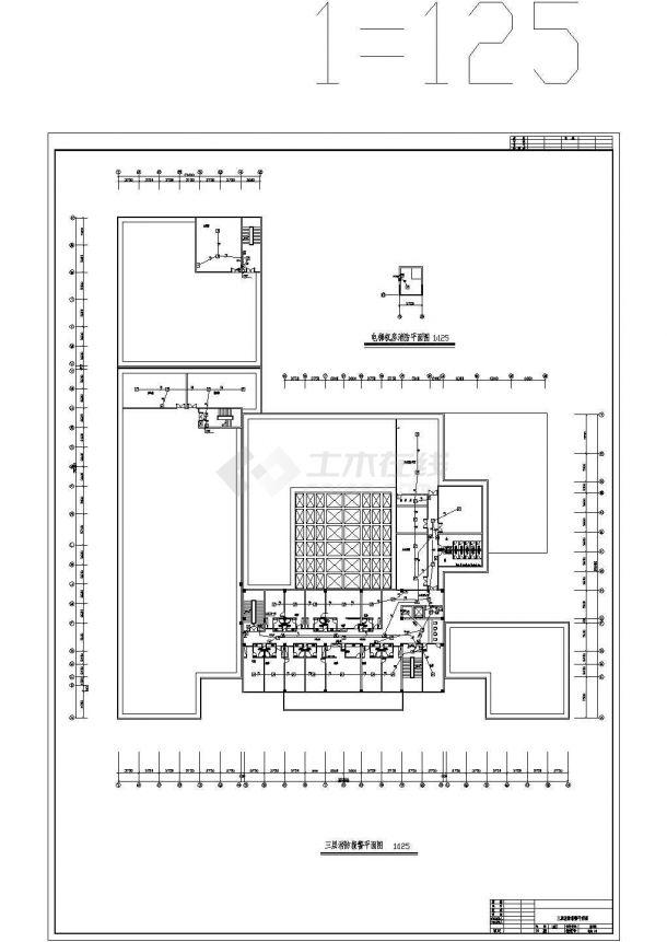 某地机场酒店消防自动报警系统设计cad图纸,共一份资料-图一