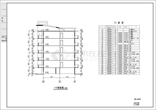 黄冈多层住宅楼CAD大样构造节点图-图二