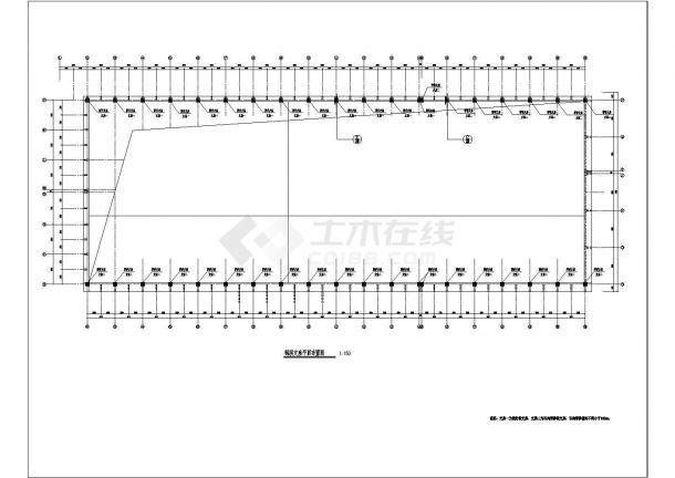 新疆某农贸市场钢结构设计图(cad,3张图纸)-图一