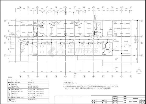 卫生院门诊楼电气设计施工图-图一