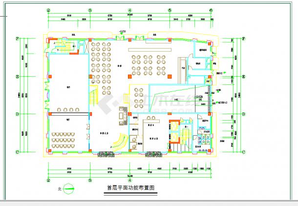 某地多层广州某酒店建筑平面图建筑设计cad图纸-图一