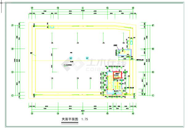 某地多层广州某酒店建筑平面图建筑设计cad图纸-图二
