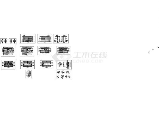 办公楼设计_某厂区六层砖混结构办公楼设计cad全套建筑施工图(甲级院设计)-图二