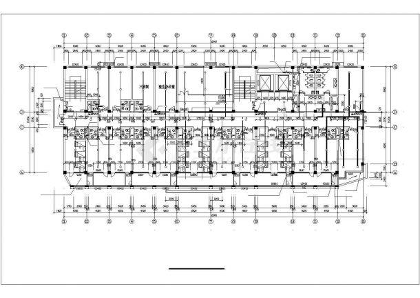 长53米 宽18.7米 7层医院综合楼给排水设计图-图一