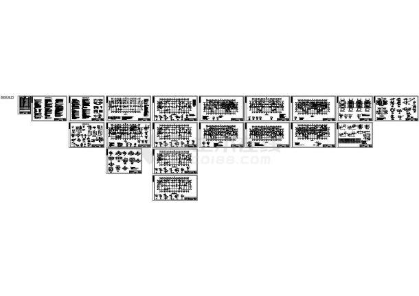 框架剪力墙结构住宅楼结构施工图(13层预应力混凝土管桩基础),19张图纸。-图一