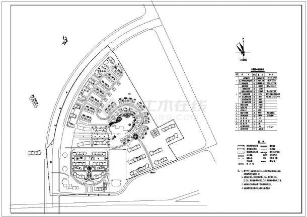 总用地12万平米总居住户数1200户小区规划总平面图-图一
