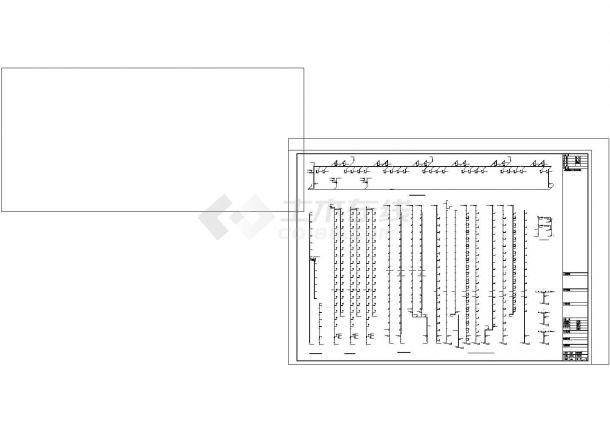 [四川]住宅小区给排水施工图纸(含四栋楼、地下室)cad图纸设计-图一