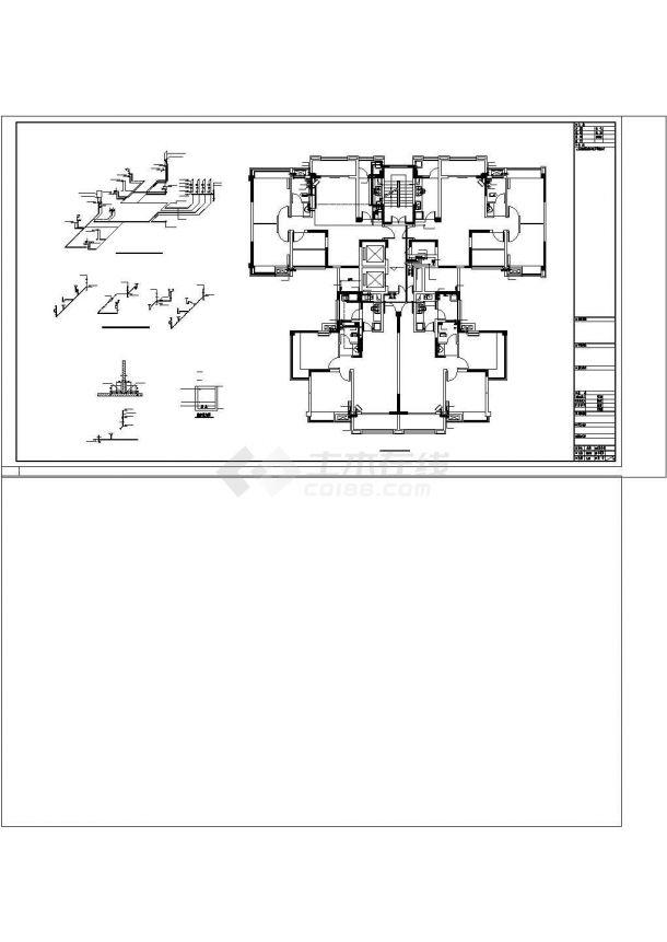 [四川]住宅小区给排水施工图纸(含四栋楼、地下室)cad图纸设计-图二