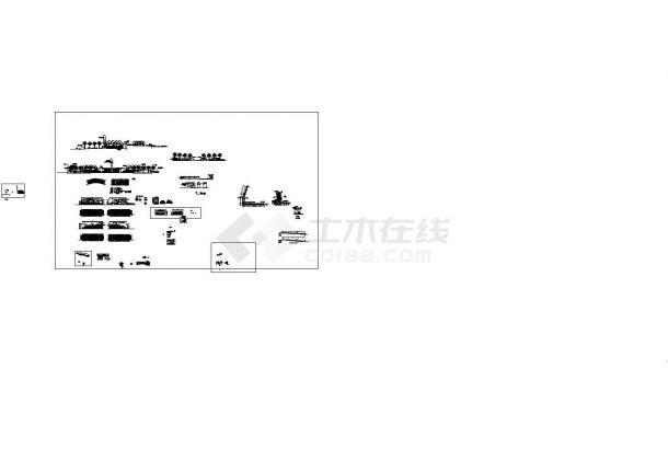 [深圳]公园入口广场园林景观工程设计施工图-图二