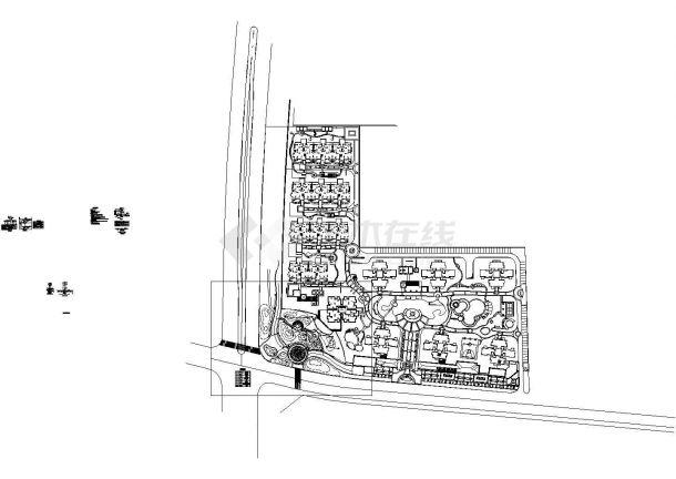 某住宅小区景观电气设计施工图纸-图一